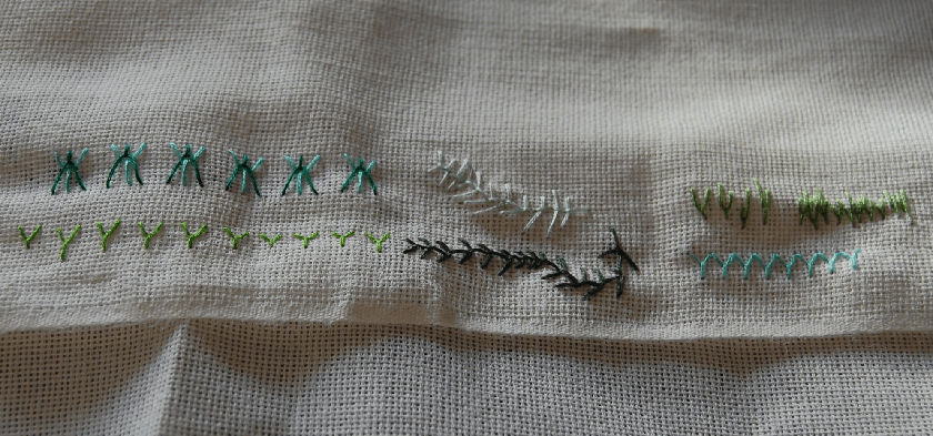 embroidery fly stitch