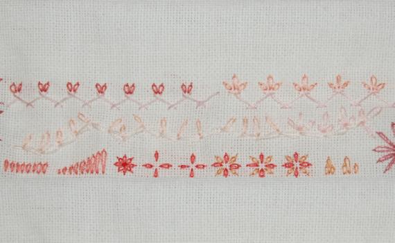 borduursteken losse kettingsteek embroidery stitches detached chain
