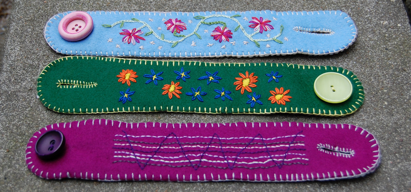 embroidered felt geborduurd vilt