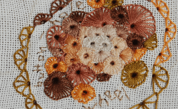borduursteken buttonhole wheel embroidery stitches buttonhole wheel