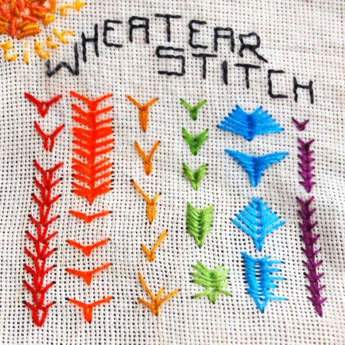 korenaarsteek (wheatear stitch) door studio paars