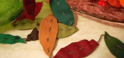 Studio Paars felt autumn leaves herfst slinger vilt