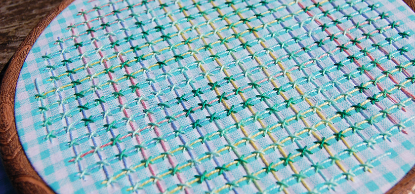embroidery couched filling stitch