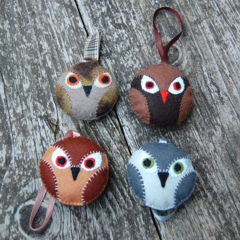 felt owl pdf pattern studio paars vilt uit patroon