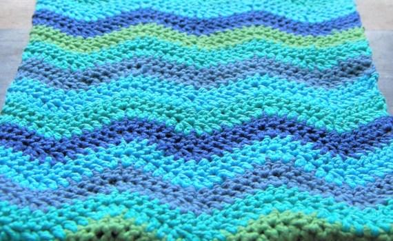 gehaakte ripple sjaal door studio paars