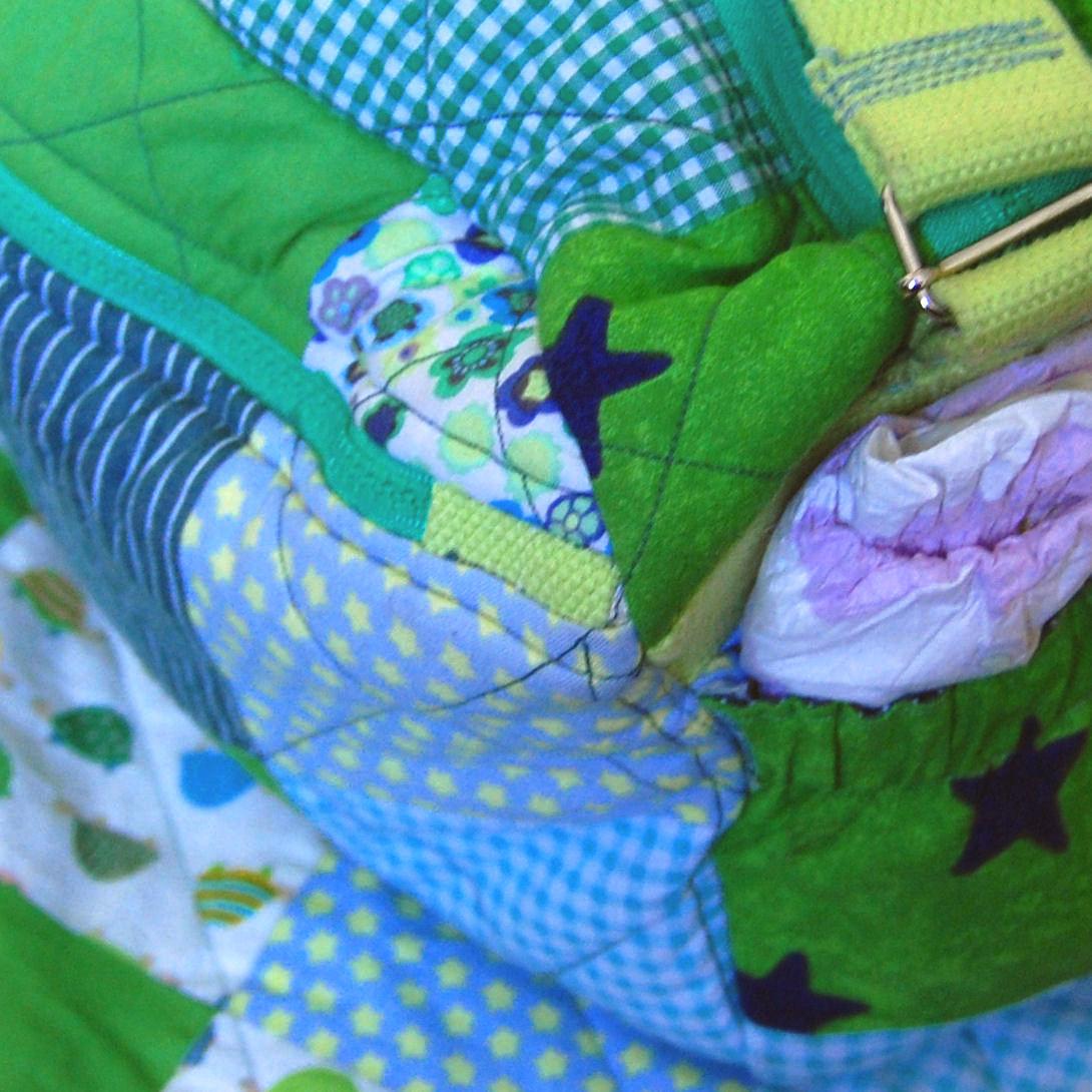 babytas voor luiers en verschonen  gemaakt door studio paars