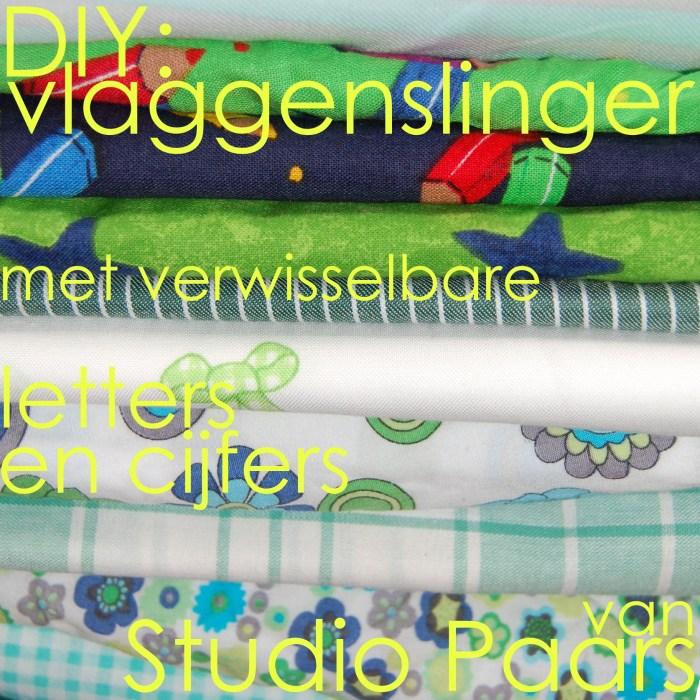 button voor de tutorial vlaggenslinger naaien met verwisselbate cijfers en letter door studio paars
