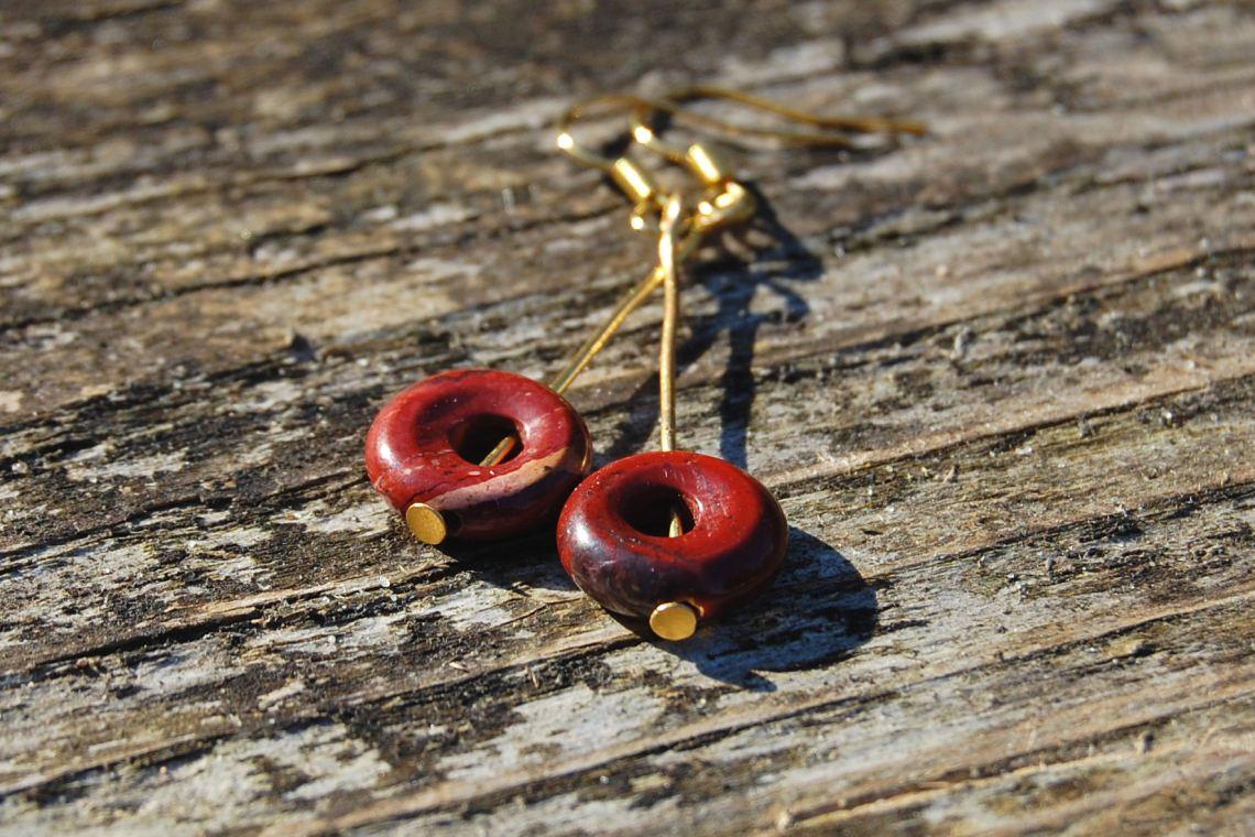 oorbellen met jaspis donuts door studio paars