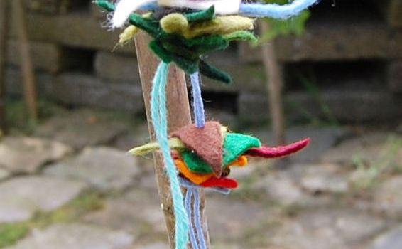 kinderknutsels met restjes vilt door studio paars