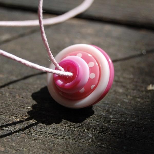 knopenketting #22 roze door studio paars