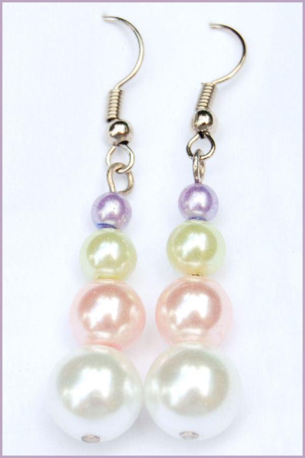 oorbellen glasparels regenboog door studio paars