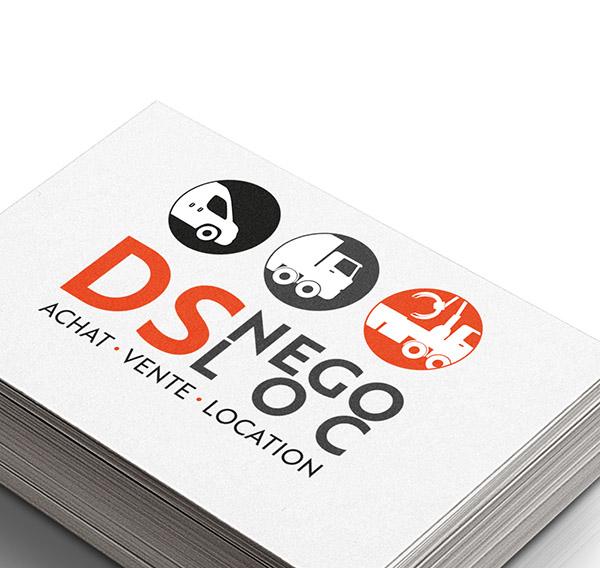 création logo, Cholet, DS Nego Loc, Maine et loire, graphiste, studio paruline