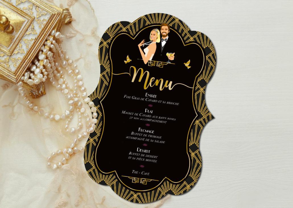 Faire Part De Mariage Original Rtro Annes 20 Annes Folles