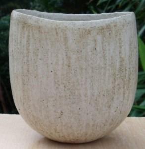 John Ward hand built pottery vessel