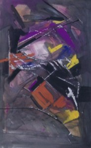 Frank Fidler (1910 - 1995) Framed mixed media on paper with scratching c 1962. Signed. Dimensions of the image: 57.0 by 36.0 cm (22.4 by 14.2 inches). Price: £250
