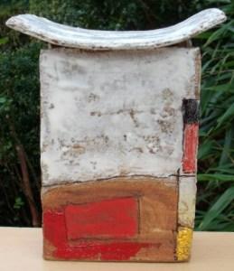 Robin Welch slab built vase from 2015.