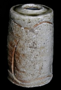 Nancy Fuller - Coiled tabimakura made from Kinose clay blend in Shigaraki Japan in 2006. Height: 20 cm (7.9 inches). Diameter: 11 cm (4.3 inches). Price: £260