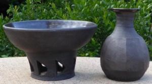 Janet Leach black stoneware - Summer 2018