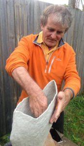 Julian potting again in Australia in 2018