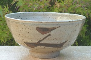 "Leach Pottery small decorated porringer with brush decoration (""Z"" bowl). St. Ives seal only. The height is 6.9 cm (2.7 inches) and the maximum diameter is 13.5 cm (5.3 inches). Price £100"