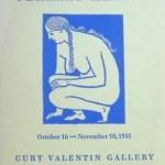 Curt Valentin Gallery, New York, 1951. [16]p., b/w illus., original stiff printed wrappers. Very good condition. £4