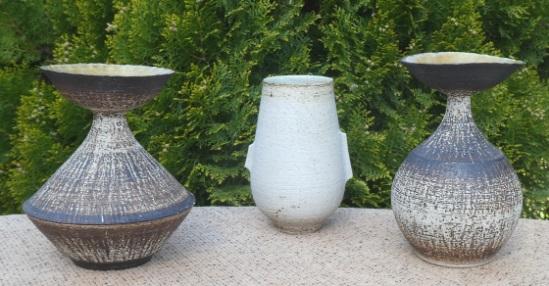 Bernard Charles - porcellanous stoneware vases