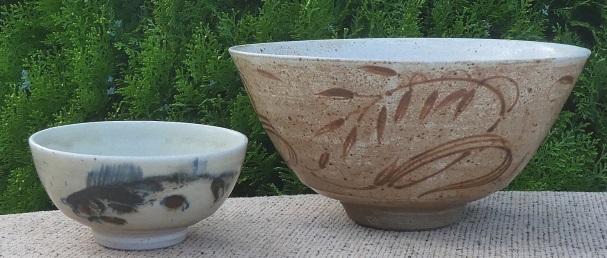 Henry Hammond brush decorated bowls