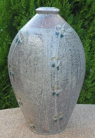 Mark Griffiths salt-glazed bottle
