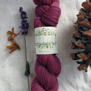 natural dye yarn purple