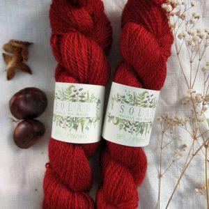 natural dye yarn red