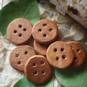 hazel wood buttons 27mm
