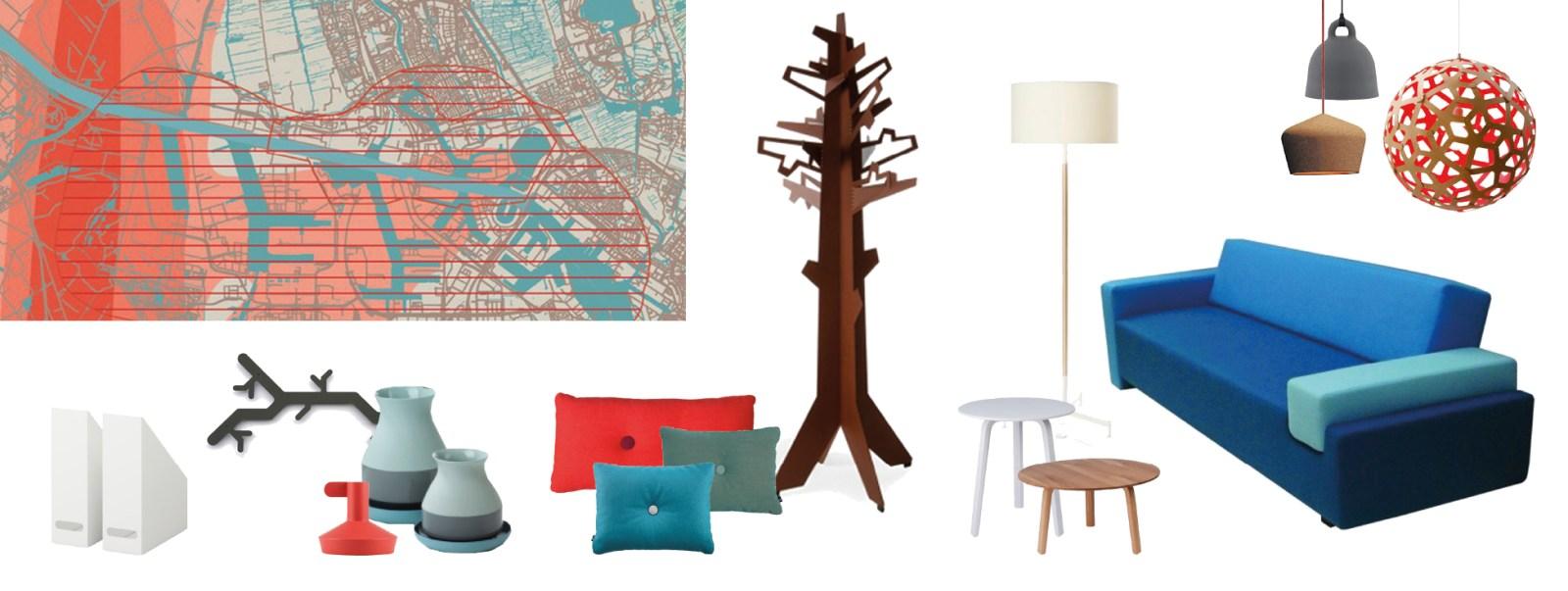 omgevingsdienst stijlkaart lounge rood