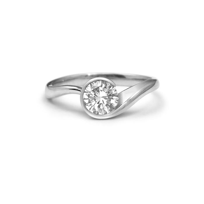 Swirl Diamond Engagement Ring Studio1098 Toronto