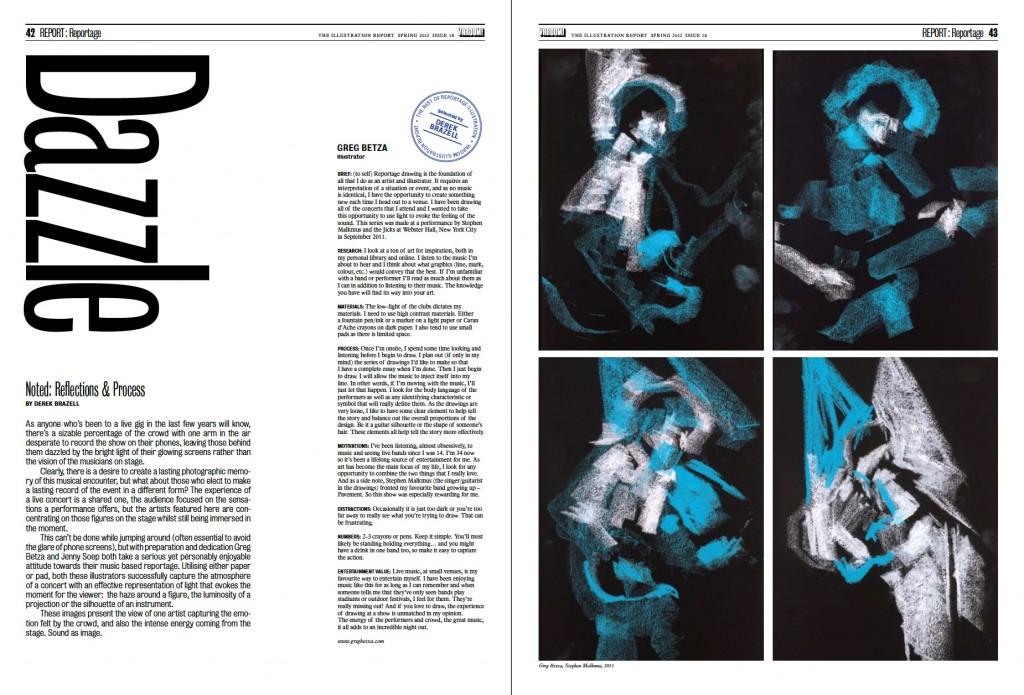Varoom Magazine Reportage Drawings | Greg Betza