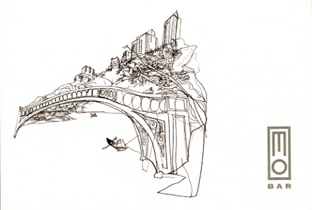 Central Park Reportage Illustration for Mo Bar | Veronica Lawlor