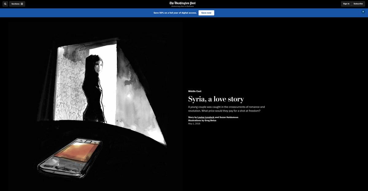 WASHINGTON POST SYRIA A LOVE STORY