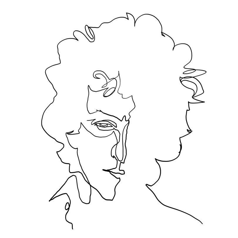 bob dylan line illustration