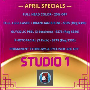 Studio 1 Specials