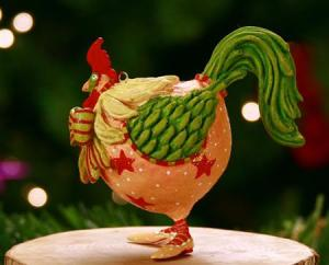 rooster patience brewster ornament