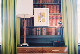 frame on bookshelf