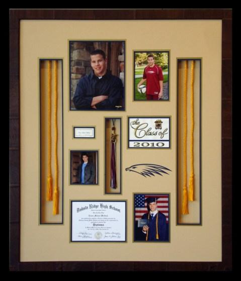 Custom Framed Graduation Collage // Studio 3 custom framing