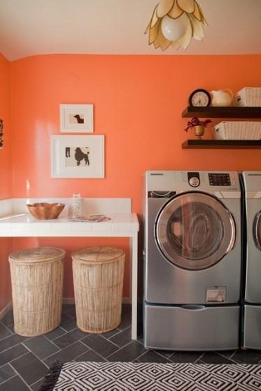 custom framing in laundry room // Studio 3