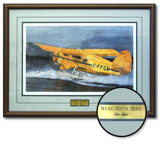 Custom Framing Engraved Plaques // Studio 3