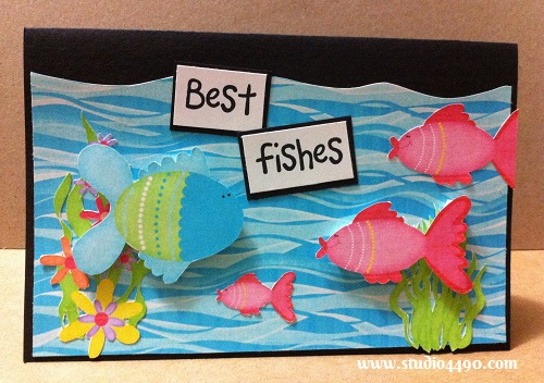 Best Fishes Materials used: Digital Kit - Blue Lagoon (Kay Miller Designs); Cardstock - Unknown.