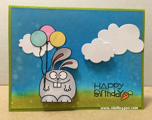 Happy birthday, Dad! Materials used: Stamps - A Little Lovin', Hullabaloo (Paper Smooches); Wise Dies - Clouds (Paper Smooches); Distress Ink, Hero Arts Shadow Ink, and Copic Markers.