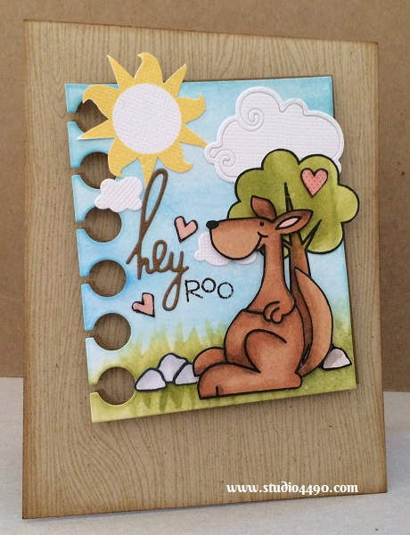 Hey Roo Materials used:  Stamps - A Little Lovin, Briny Blue, Cosmos, Summer Groves, Swanky Snowdudes, Warm Hearts (Paper Smooches), Designer Woodgrain (Hero Arts); Wise Dies - Clouds, Hello Words, Paper (Paper Smooches); Designer Paper - 6x6 Paper Pad - True Love (Basic Grey); Copic Markers; Distress Ink, Hero Arts Shadow Ink and Glossy Accents (Ranger).