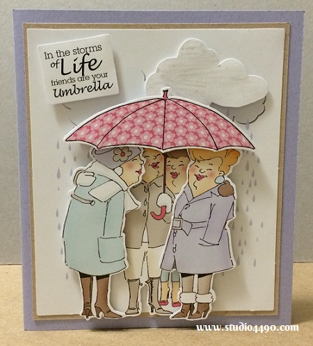 Friends are your Umbrella Materials Used:  Finmark Decoupage Card Kit (Finmark); Cardstock - Various.