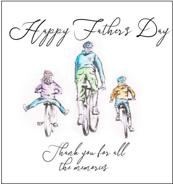 Personalised Father's Day Cycling Cards