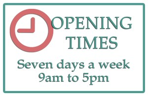 The Studio Art Gallery's opening times