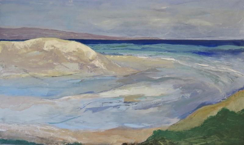 Estuary by Robyn Schoon, Oil on Canvas, 100cm by 100cm.